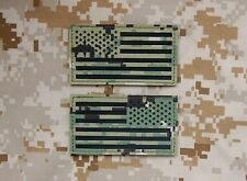 Infrared AOR2 IR US Flag Patch Set US Navy SEAL NSW NWU Type III NSWDG #TEAMS