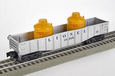 Lot 4102 Lionel 1002x offener Güterwagen mit zwei Kanistern (gondola), Spur 0