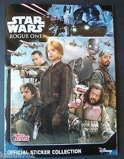 TOPPS STAR WARS  ROGUE ONE STICKER COLLECTION 200 STICKERS SET+ALBUM+ POSTER+BOX