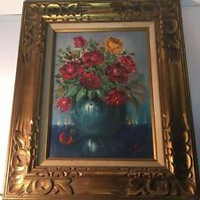 Beautiful Antique Floral Still Life Oil Painting