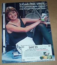 1983 print ad page -Sugar-Free SPRITE soda pop SEXY exercise GIRL vintage ADVERT