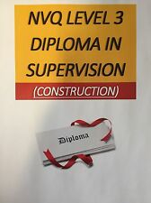 NVQ level3 diploma in occupational work supervision Answers  (construction)
