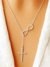 Stunning Silver Cross Chain necklace Pendant Fashion Necklaces For Women Gift