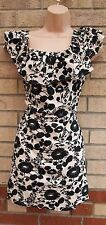 PRIMARK NUDE BLACK FLORAL RUFFLE FRILL CAPE SUMMER LONG TOP TUNIC BLOUSE 16 XL