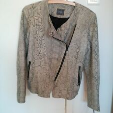 GUESS SNAKE PRINT LEATHER JACKET size L - NEVER USED!