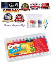 Gel Wax Crayons Set of 12 , High Quality,Made In Germany,Free & Fast P&P