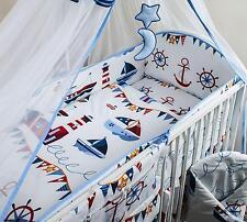 3 Piezas cuna bebé juego ropa de cama con 4 caras Protector de cuna para 120x60