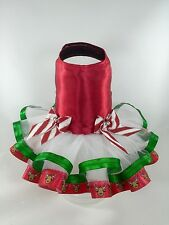 New Pet Dog dress Red Reindeer Christmas tutu XXS XS SMALL MEDIUM
