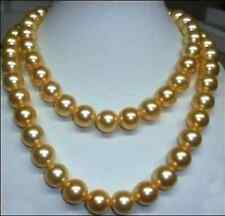 genuine south sea golden pearl necklace 36 inch 10-11mm  14K Gold Clasp
