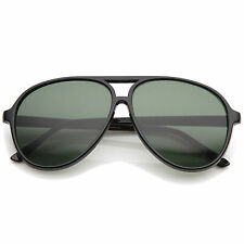 sunglassLA Retro Flat Top Teardrop Neutral Colored Lens Aviator Sunglasses