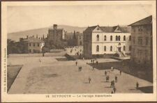 BEYROUTH BEIRUT CARTE POSTALE LE COLLEGE AMERICAIN 1920