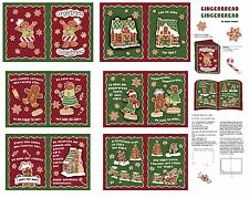 "1 Springs ""Gingerbread"" Christmas Cloth Book fabric panel"""