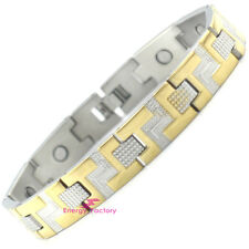 GOLD Magnetic Bracelet Strong 3000 GAUSS Bio Energy Healing Wristband
