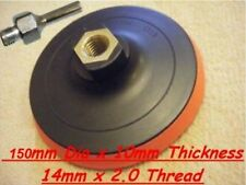 "Velcro Backing Pad 150mm For 4 1/2"" & 125mm  Angle Grinders with MANDREL"