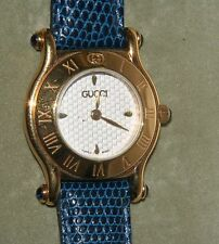 ADORABLE ORIGINAL GUCCI 6500L LADIES WATCH WHITE DIAL, GOLD TONE WITH BOX