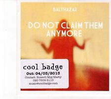 (DZ369) Balthazar, Do Not Claim Them Anymore - 2013 DJ CD