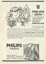 W0407 Radio Philips 2540 - Pubblicità 1930 - Advertising
