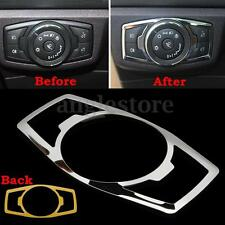 Interior Head Light Switch Control Cover Trim Chrome For Ford F150 F-150 15-16