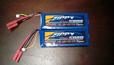 2 ZIPPY Flightmax 5000mah 2S1P 20C 7.4v 2s Lipo battery VENOM TURNIGY LOSI hpi