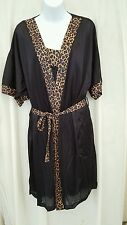 SEXY KNEE LENGTH 2 PIECE LEOPARD BABYDOLL NIGHTGOWN & ROBE SET SIZE 4X GIFT