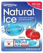 Mentholatum Natural Ice Medicated Lip Protectant SPF 15 CHERRY balm (PACK OF 48)