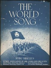 World Song 1952 Girl Guides and Girl Scouts French & English lyrics Sheet Music