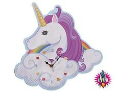 UNICORN SHAPED GIRLS WALL MANTEL CLOCK