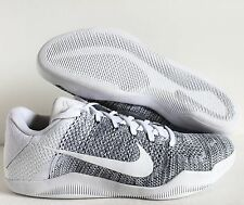 Nike Kobe XI 11 Elite Low ID Flyknit White-Grey SZ 13 [835649-994]