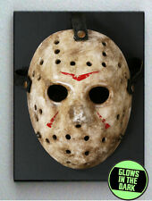 Jason Voorhees Friday the 13th Glow In The Dark Framed Mask Prop Mini Poster
