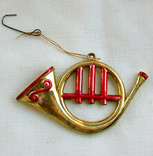 1 Plastic French Horn Christmas Tree Ornament from the Late 1970s