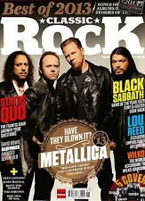 CLASSIC ROCK January 2014 METALLICA +Best of 2013 CD +2014 Icons Calendar @NEW