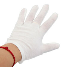 New 12 Pairs Pure Cotton Protective Anti-static Glove Golves White