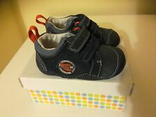 CLARKS INFANT BOYS NAVY TINY WING FIRST SHOES LEATHER,
