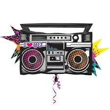 "Totally 80s Boombox SuperShape Amscan Licensed 35"" Foil Balloon Party Decoration"