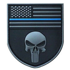 PUNISHER USA SHIELD FLAG USA OPS ISAF NAVY Tactical MORALE PVC PATCH