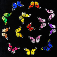 10pc Mix Color Butterfly Embroidery Lace Patches Motifs Applique Sew On T1744