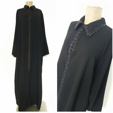 Lounge Dress Size 2XLarge Kaftan Long Black Muu Muu Caftan Robe Sleep Casual