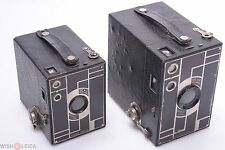 KODAK BEAU 'ART DECO' BROWNIE NO. 2 AND NO. 2A BLACK CAMERAS