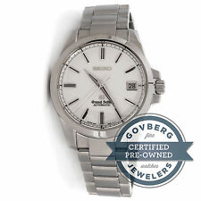 Grand Seiko SBGR055 Automatic 39.5mm Steel White Dial Bracelet Watch Date