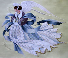 "Completed Finished cross stitch  ""ANGEL OF WINTER"" by LAVENDER AND LACE."