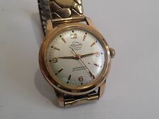 Ed Kummer Atlantic 30J Gold Plated Automatic Working Rare Vintage Gents Watch