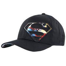 Superman Hat Black One Size Superhero Batman Wonder Woman Justice League Cap