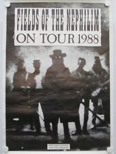 Fields of the Nephilim, Vintage Large 1988 Official Tour Poster, Punk, Goth