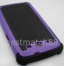 for Samsung galaxy s3 case purple black triple layer i9300 rugged hard soft