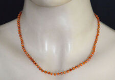Carnelian Beads Ladies Chain Sterling Silver Handmade Necklace Jewelry LN10