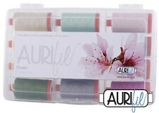 FLOWER Collection of Aurifil Threads 12 50 wt. Large Spools (Orange)