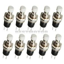 10Pcs Momentary Mini On Off Push Button Micro On-Off SPST Switch White 2 Pins