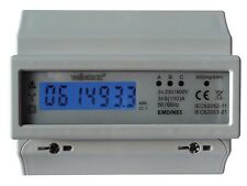 COUNTER ENERGIE ELECTRIC kWh THREE-PHASE FOR MOUNTING ON RAIL DIN - 7 MODULES