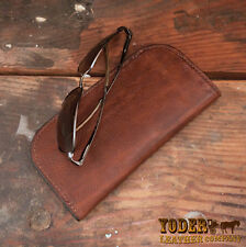 Brown Cowhide Leather Soft Eye Glasses or Sunglasses Case