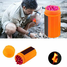 Outdoor Stormproof Windproof Waterproof Matches Kit Orange Case 20 Matches LE